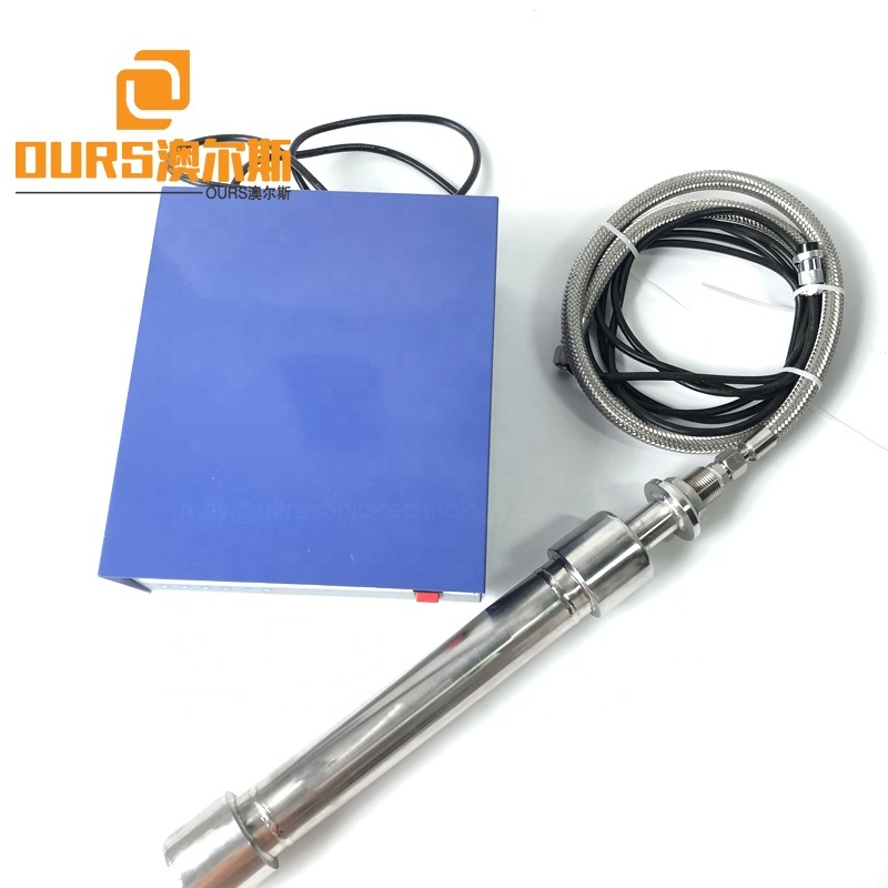 316 Stainless Steel Piezo Ultrasonic Cleaning Pipeline Transducer 300W Underwater Tubular Ultrasound Reactor For Industrial