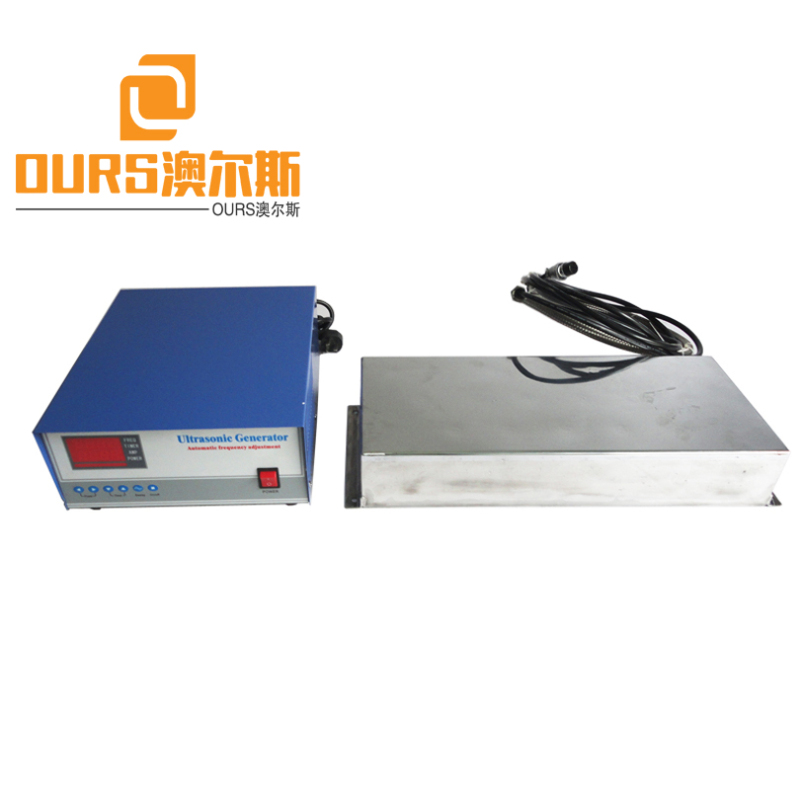200KHZ High Frequency Waterproof Immersible Ultrasonic Transducer Plate With Generator Metal Oil Parts Ultra Cleaning Machine