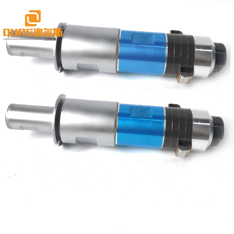 Piezo Welding Transducer And Horn For 110*20MM Ultrasonic Surgical Nonwoven Face Mask Making Machine/Sealing Device