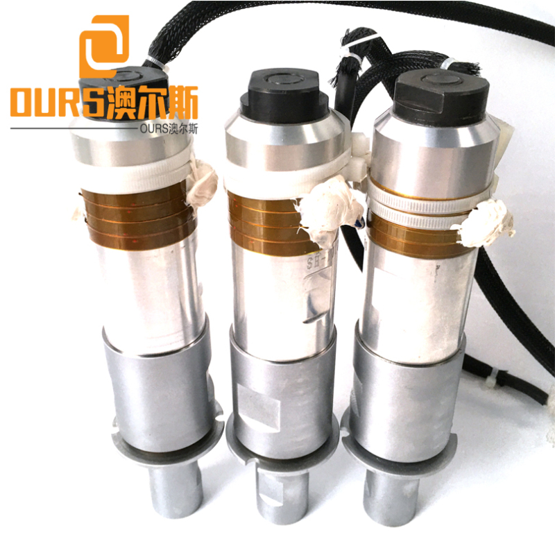 2000W 20KHZ PZT8 Ultrasonic welding transducer vibration transducer  for Surgical Face Ultrasonic Welding
