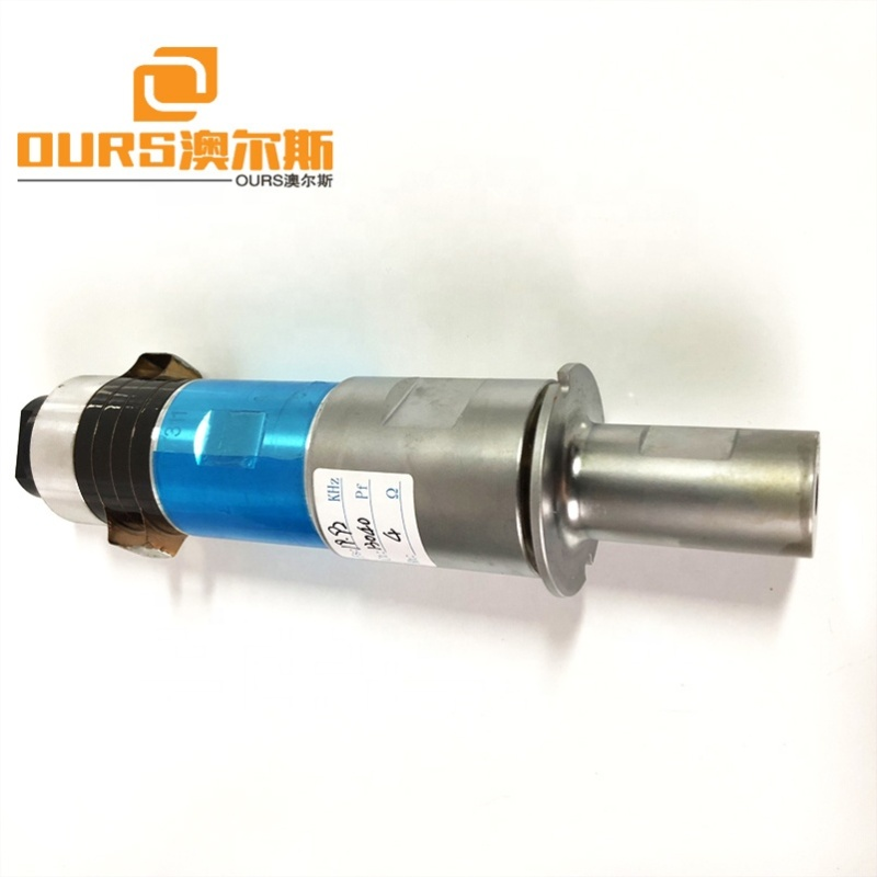 Folded Ultrasonic Automatic Dust Mask Face Mask Making Machinery 15K 2000W Ultrasound Welding Transducer And Horn
