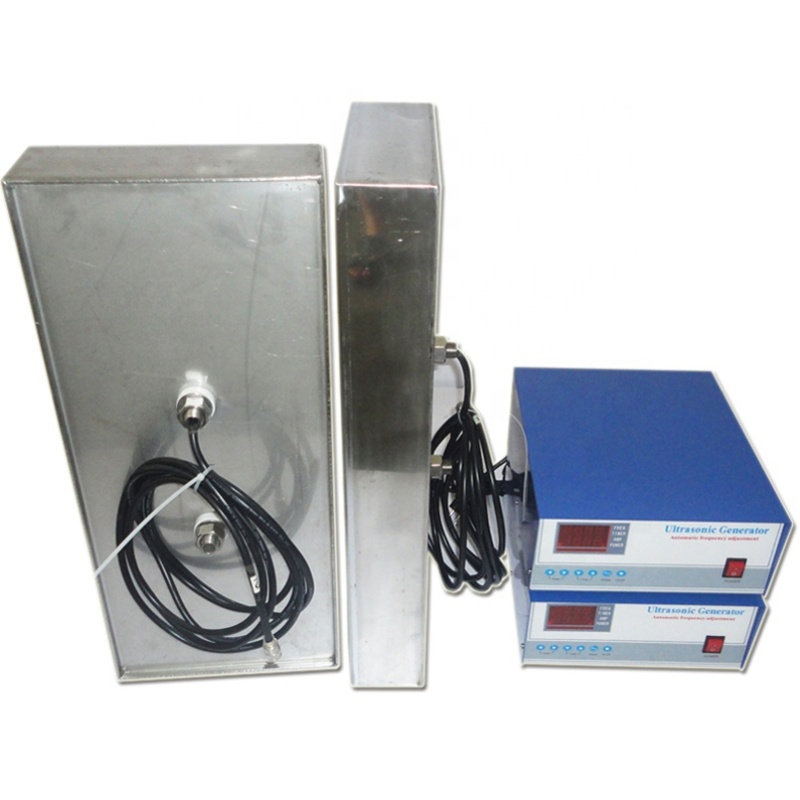 Installed In Lateral Side Of Cleaning Equipment Customized Ultrasonic Submersible Transducer Pack Immersible Vibrator Box