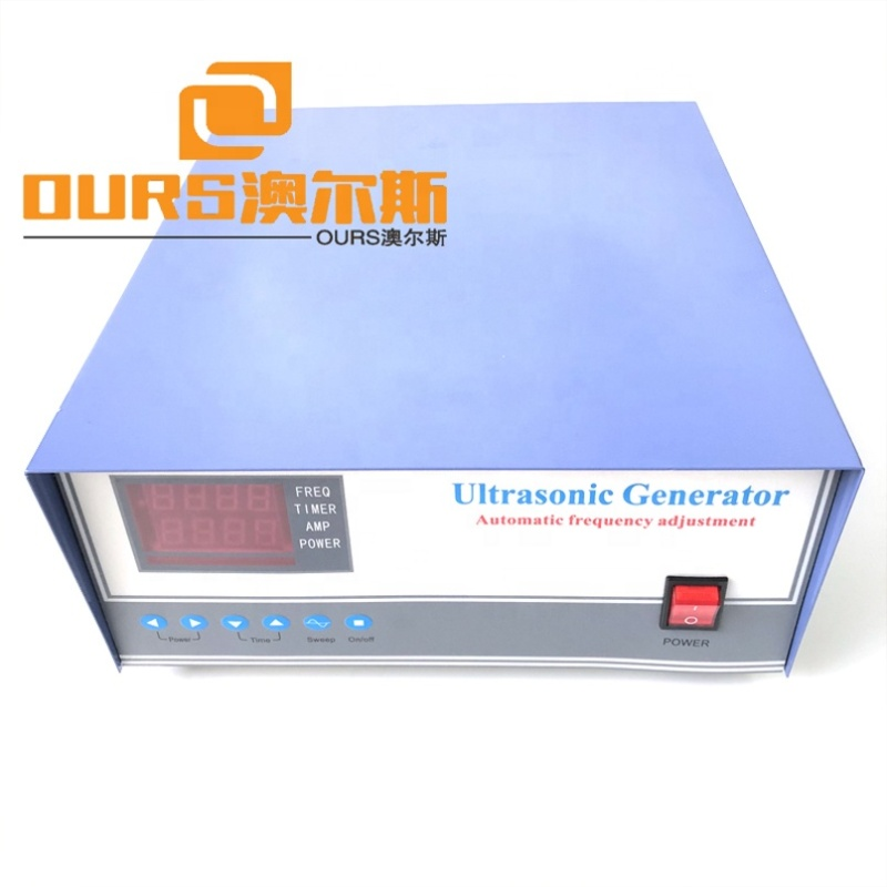 High Frequency 80K Ultrasonic Waveform Ultrasonic Washing Vegetables Driving Power Generator 600W Vibration Cleaner Power Case