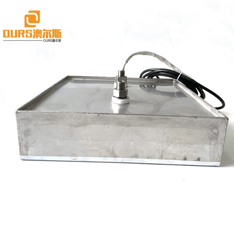 High Frequency 68K 300W-1200W Immersible Ultrasonic Sensor Vibrating Plate And Generator For Aerospace Machinery Parts Cleaning