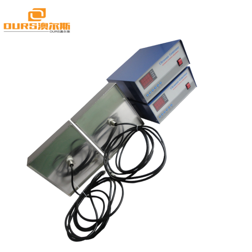 1000W Customized Stainless Steel flat Submersible 28/40khz frequency Ultrasonic Transducer