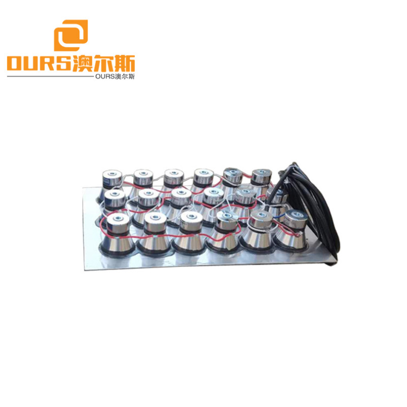 28khz 600W Stainless Steel 316L Immersible Ultrasonic Transducer Box For Cleaning Automobile Parts