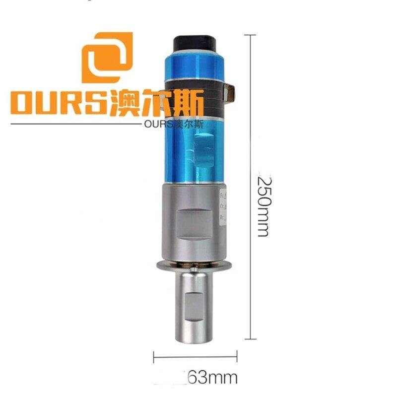 1500W 15KHZ ultrasonic welding transducer with booster,shaped non-woven welding ultrasonic transducer