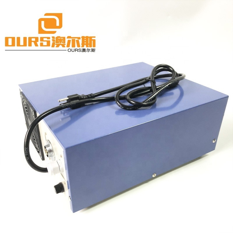 60KHZ High Frequency Mechanical Ultrasonic Washer Generator With Fan 1200W  Pulse Cleaning Machine