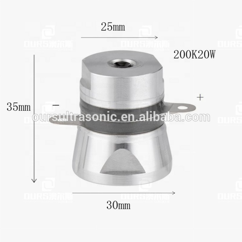 200khz ultrasonic transducer,200K Cleaning transducer 20W high-efficiency ultrasonic cleaning piezoceramic Transducer PZT-4