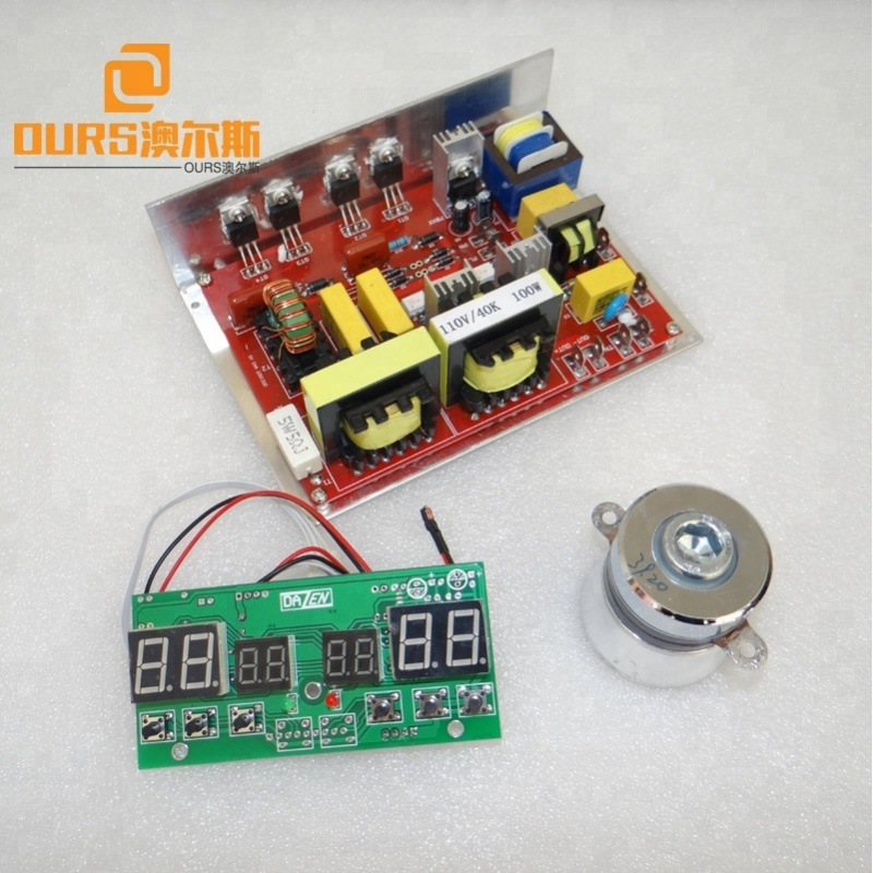 100W Timer& heating Ultrasonic Generator PCB ultrasonic cleaner and ultrasonic cleaning Machine