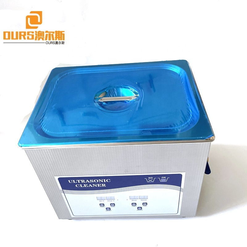 110V 50HZ Small Ultrasonic Transducer Cleaner 10Liter For Glasses Jewelry Circuit Board Pressure Cleaning