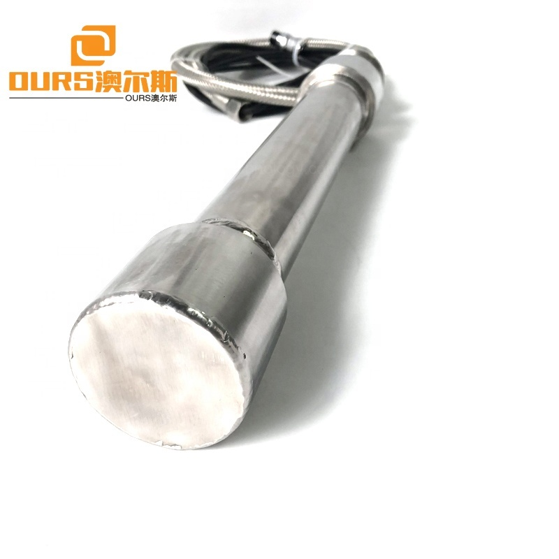 25KHZ-27KHZ Industrial Cleaning Ultrasonic Vibration Rod Immersible Tubular Ultrasonic Sensor Used To Remove Automobile  Oil