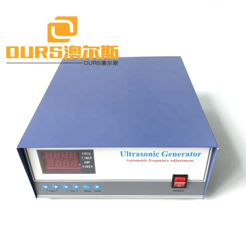 Adjustable Frequency 20-40K Degas Ultrasonic Rinse Generator Steel Ultrasound Transducer Driving Power Supply With Digital Panel