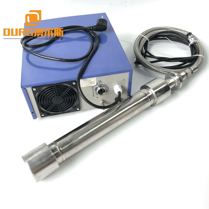 2000W Refining / Catalyzing Tubular Reactor Immersible Ultrasonic Piezoelectric Transducer For Industrial Chemical Process