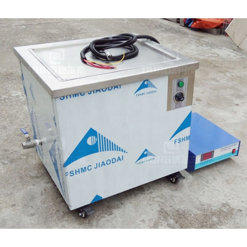 316 Stainless Steel Industrial Ultrasonic Cleaner For Aircraft Parts Oil / Coolant Removal Frequency 28KHZ AC220V
