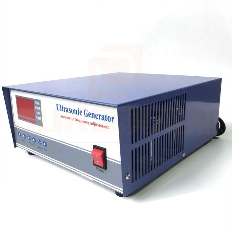 Immersion Ultrasonic Cleaner Tank Power Supply Industrial Ultrasonic Pulse Generator 40K/100K Frequency Adjustable Power Box
