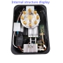 Wholesale Household Gas Stove Desktop Embedded Single Stove Nine Head Fire Toughened Glass Pulse Ignition Cooker