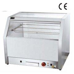 IS-OY-HO828 Luxurious Uniform Heating Stainless Steel Popcorn Glass Food Warmer Display Showcase