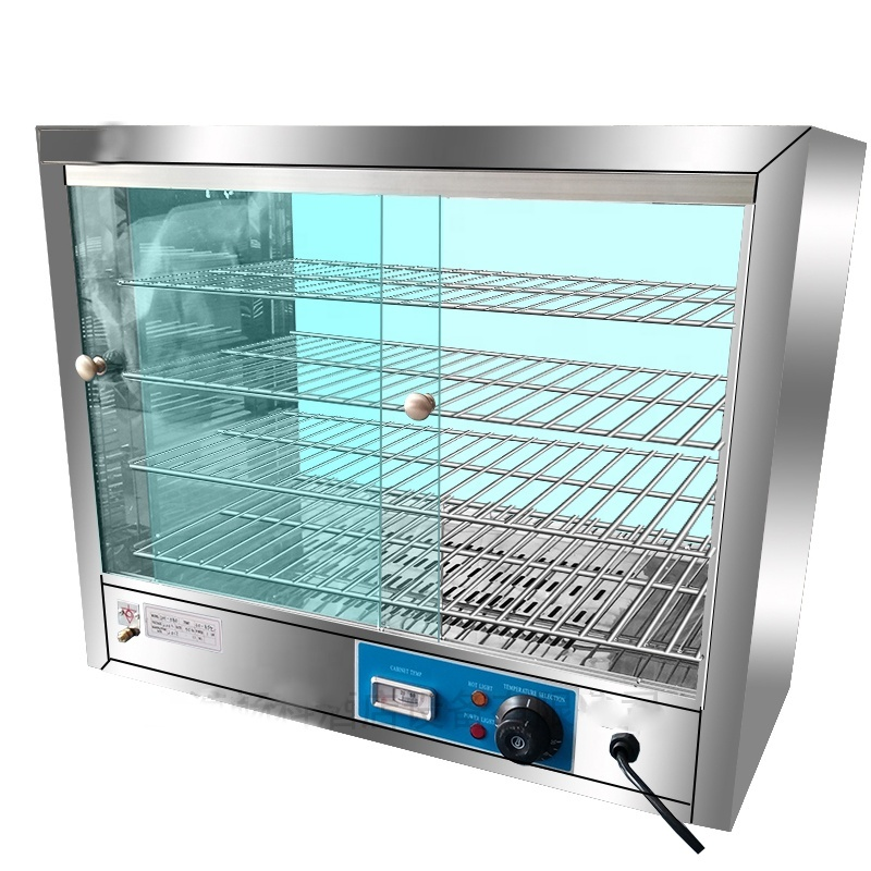 5 Layers Glass Display Showcase Hot Food Warmer Electric Display Showcase With 30-110 Degrees