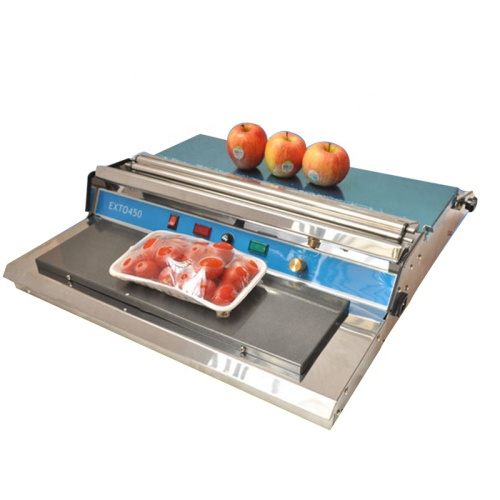 450mm Plastic Food Cling Film Wrapping Sealing Supermarket Food Fruit Vegetable Packing Wrapper Machine