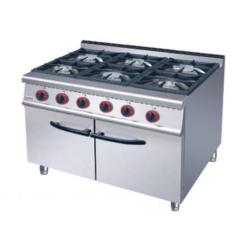 IS-GH-977 C multifunctional 6 Burners, Vertical combined gas stove with gas oven/baker
