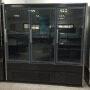 Hot Sale 3 4 doors  -16~-18C Commercial 3 Big Glass Door Vertical Upright Fridge Showcase Freezer