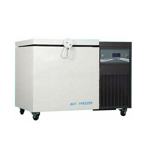 0~-86 Degree Below Zero 208L Horizontal Ultra Low Temperature Refrigerator Thermostatic Laboratory Freezer Box Industry Use