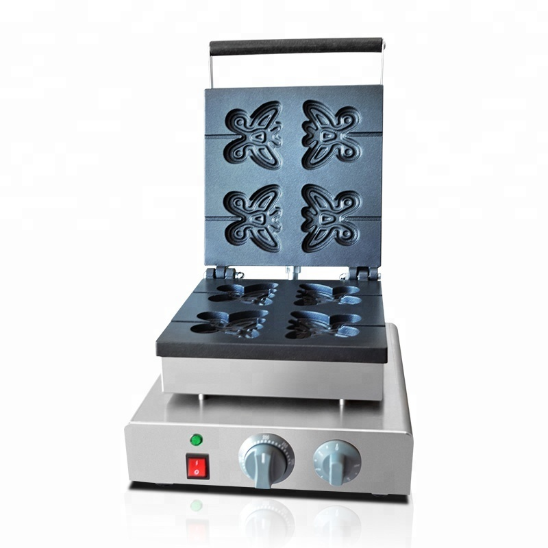 FY-2211 Waffle Iron Stainless Steel Butterfly Waffle Maker Electric Waffle Machine Snack Machine
