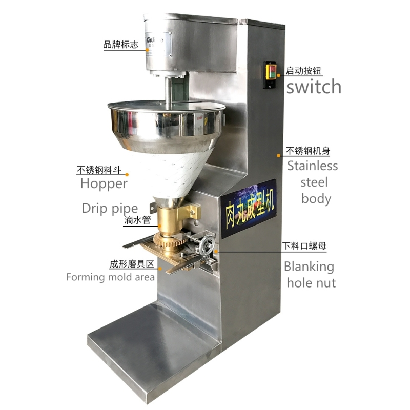 Commercial Ball Forming Machine Chicken Fish Beef Pork Dough Meat Ball Molding Machine Large Stainless Steel Food Machinery