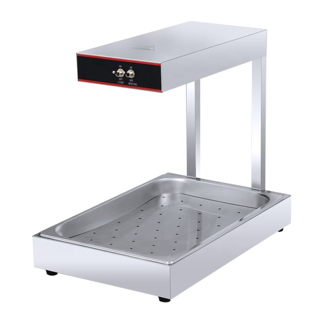 DH-310 Stainless Factory Outlet Keep-Warming Table Fries Food Display Showcase Food Warm Station
