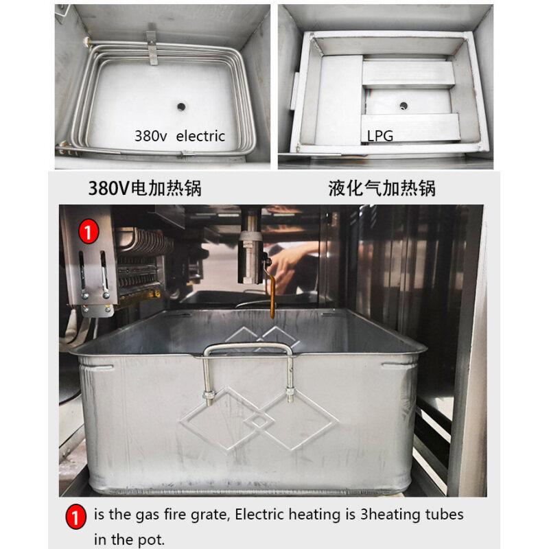 55L Stainless Steel 35L Commercial Chicken Beijing Duck Pressure Fryer 6-8 Ducks Each Time
