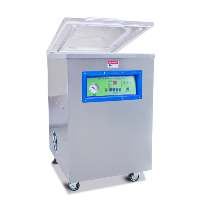 DZ-510S Stainless steel Vertical Single Chamber Tea packing machine Meat Pump Packing Vacuum Sealer Machine