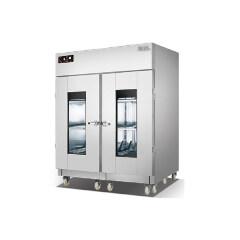 Luxury Stainless Steel 2-Door Kitchen Cupboards Disinfection Cabinet Sterilization Display
