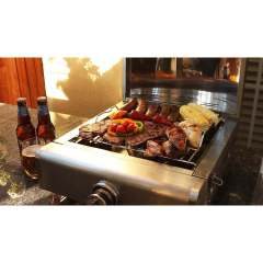 Stainless Steel Hot Selling Small BBQ Camp Baking Oven Metal Gas Heating Fire Pizza Oven with Cover