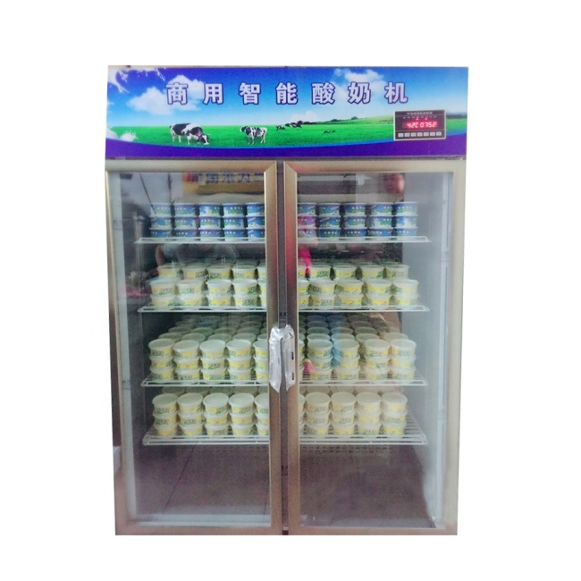 Commercial Double 1 / 2 Door Intelligent Yoghurt Making Processing Machines Yogurt Fermentation Tank Showcase Room