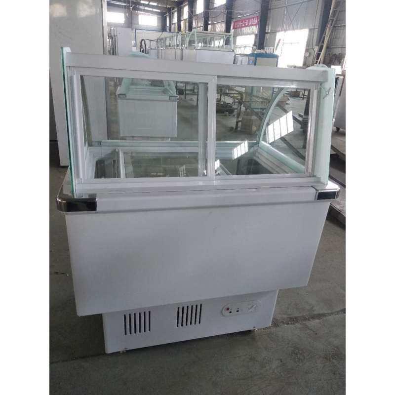 10-14pans -18~-24 Danfoss Compressor Countertop Gelato Counter Ice Cream Display Freezer  With Stainless Steel Shutters