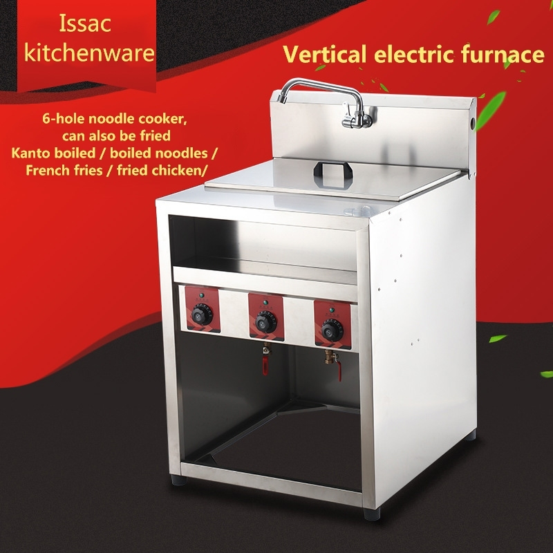 Electric Fryer French Fries Kitchen Equipment Of Commercial Vertical 6-hole Noodle Cooker Oden