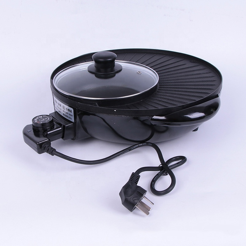 Household Food Warmer Smokeless Rinse Pan Electric Grill 2 in 1 Cooker Electric Bbq Grill With Hot Pot Restaurant Equipment
