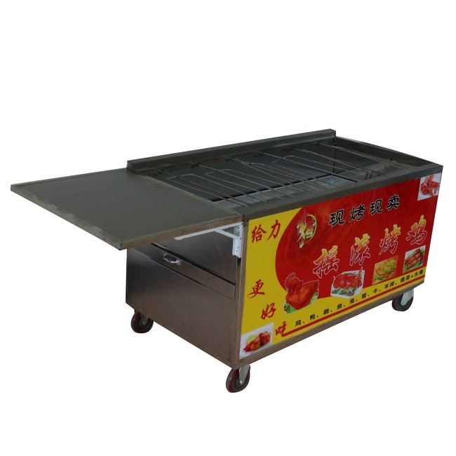 Big Mobile Chicken Roasting Machine Lamb Roaster DUCK Baking Oven