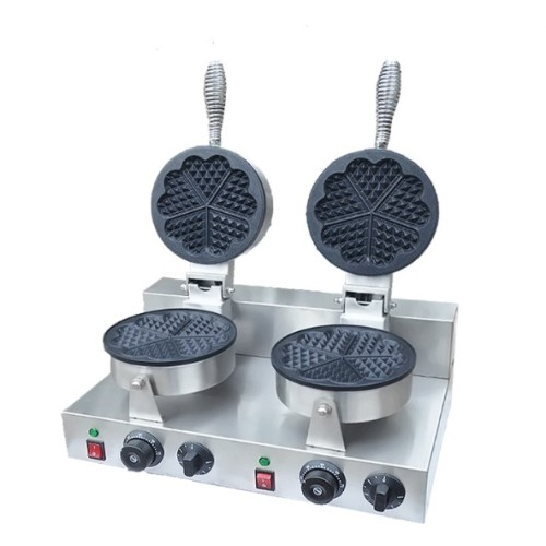 2pcs Electric Heart Shape New Arrival Best Price Commercial Double Plates  Waffle Maker