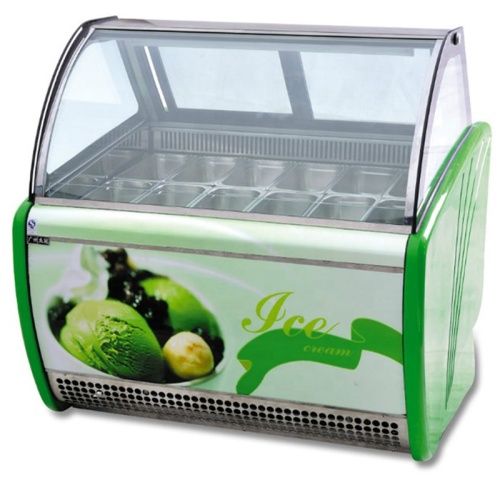New design freezer display for ice cream with certificate