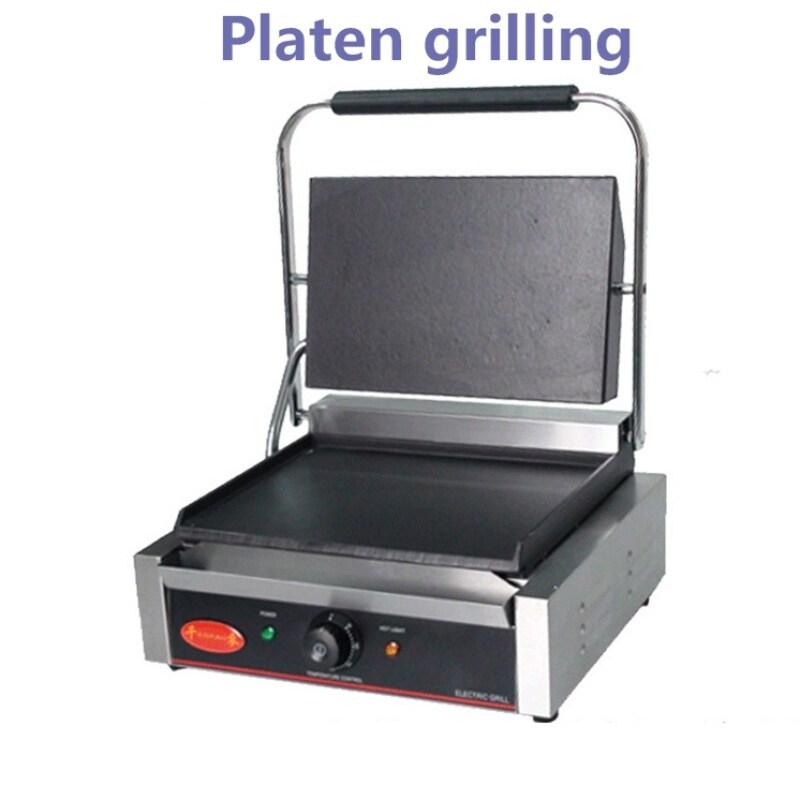 Single Head Electric Heating Press Plate Grilling Furnace Electric Baking Pan Panini Machine Kitchen Equipment