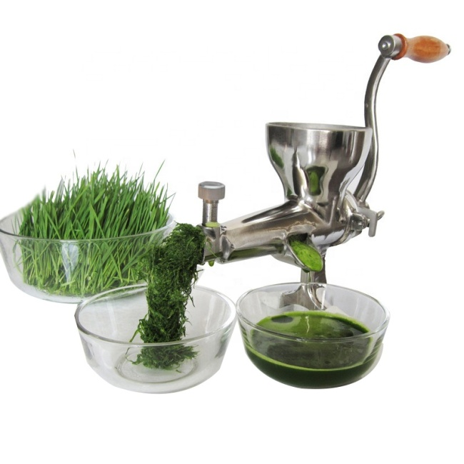 304 Stainless Steel Manual Wheatgrass Juicer Manual-Wheatgrass-Juicer Vegetable Machine Fruit and Vegetable Juice Extractor