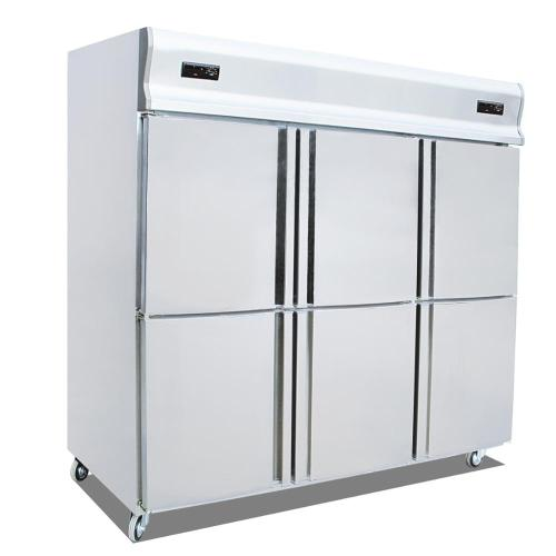 Commercial 6 Door Vertical Cold Freezer Fridge Kitchen Refrigerator Food Kitchen Chiller