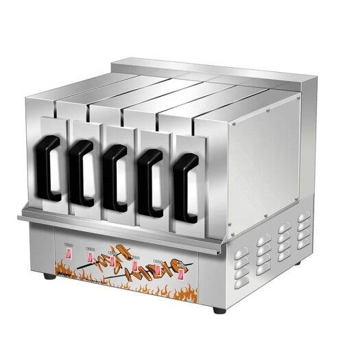250degrees 27pcs 72pcs 45pcs Shish Kebab Skewer Electric Fish Grill Baking Oven Machine