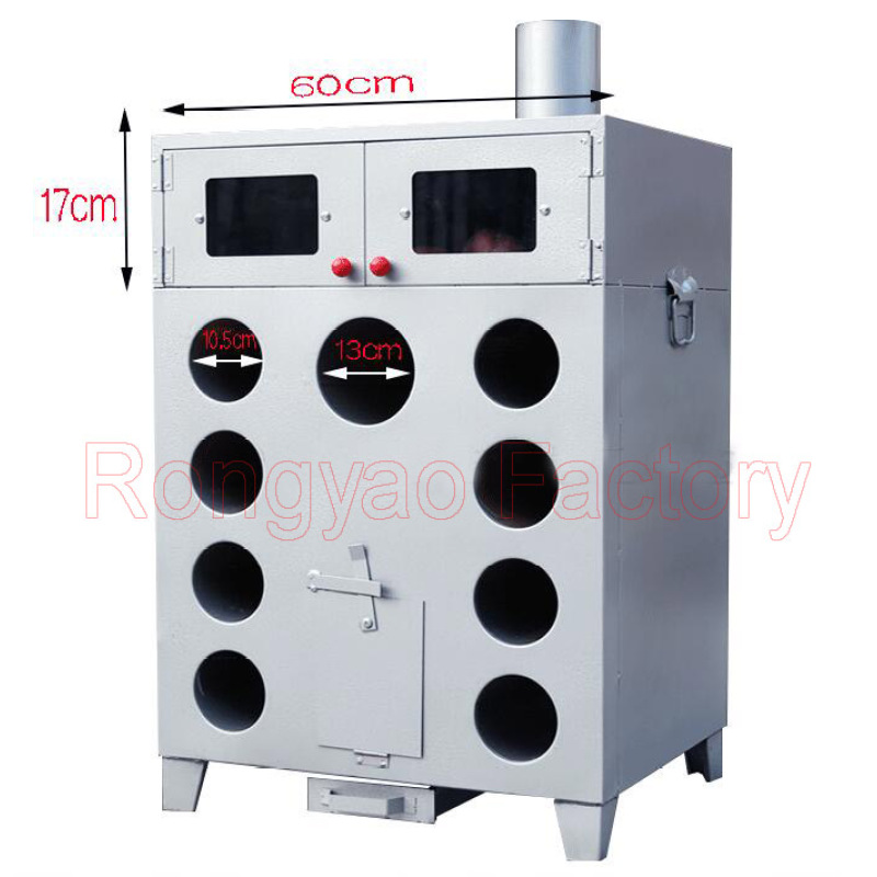 9 Hole Thicken Double Layers Corn Grilled Gas Charcoal Wood Roasted Sweet potato  Oven Machine