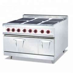 Vertical Electric Cooking Range Six (Panels) 6-Hot Plate Cooking Stove  with Oven