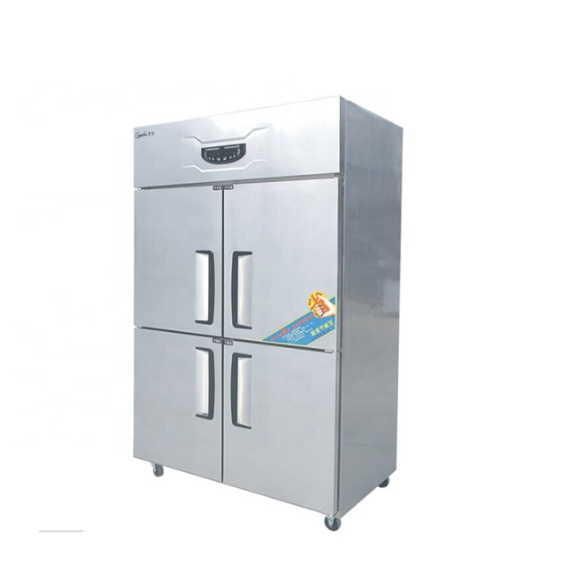 -15~5/-5~5 Double Temperature Commercial 4 Door Refrigerator Kitchen Fridge Cabinet Machine for Food Vegetables