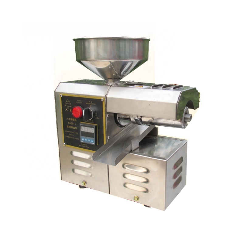 Electric Oil Pressers Mill Expeller Peanut Soybean Sesame Seeds Stainless Steel Home Use Small Size Sunflower Oil Extractor