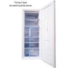 7 Layer Best Frost Free Home Defrost Capacity 195l Upright Deep White Vertical Freezer For Home